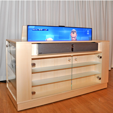 hi fi m bel mit tv lift. Black Bedroom Furniture Sets. Home Design Ideas